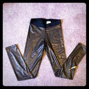 Nike Dri-Fit Pro Metallic Gold Running Tights